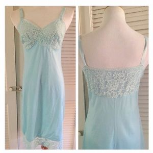 Vintage Baby Blue Nightgown/Slip/Dress, Small