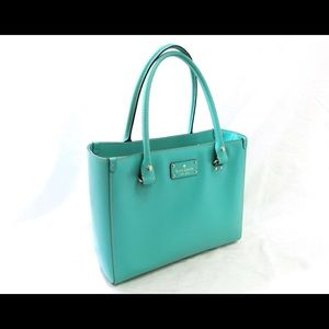 Kate Spade Leather Wellesley Quinn in Mint Green