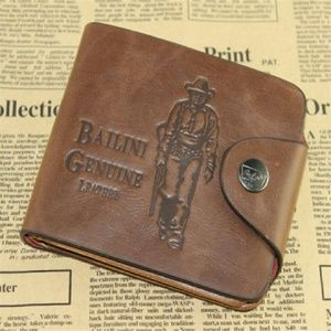 Men's faux leather bifold wallet creditcard holder