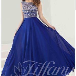 tiffany Dresses & Skirts - Royal blue evening dress from Tiffani