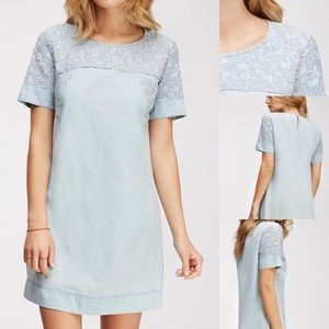 Dresses & Skirts - NWOT chambray embroidered shift dress s f21