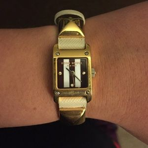 henri bendel Jewelry - Henri Bendel white leather watch