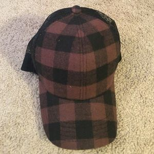 Buckle Plaid Hat - NWT!