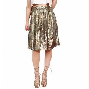 J. Crew Dresses & Skirts - J crew collection metallic skirt