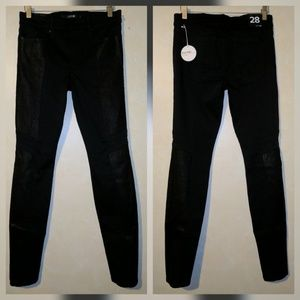 Joe's Jeans Denim - Joe's Jeans Stellar Legging Sebastien Leather Trim
