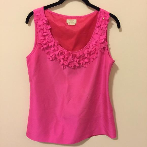 Kate spade tops new york silk hot pink flower blouse poshmark kate spade new york silk hot pink flower blouse mightylinksfo