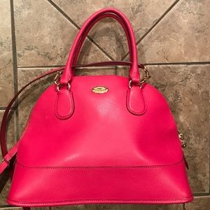 AUTHENTIC Coach Crossgrain Cora Domed Satchel Pink