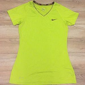 Nike Pro | Women's Neon Green Workout Tee