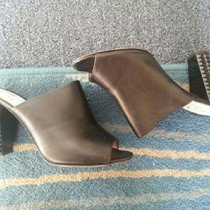 Amazingly comfortable black Kate spade leath mules