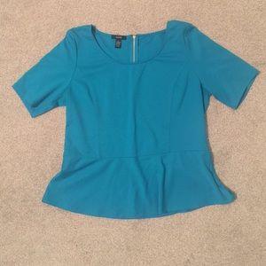 Teal peplum shirt