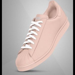 Adidas Shoes - NWT Adidas Superstars custom blush pink