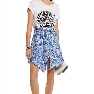 Carven Dresses & Skirts - Carven blue/white architectural skirt, 38