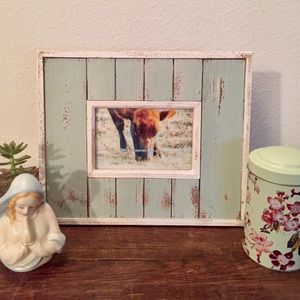 Other - 🐮HANDMADE FRAMED COW🐮