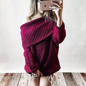 Bare Anthology Sweaters - Spellcast Off Shoulder Sweater