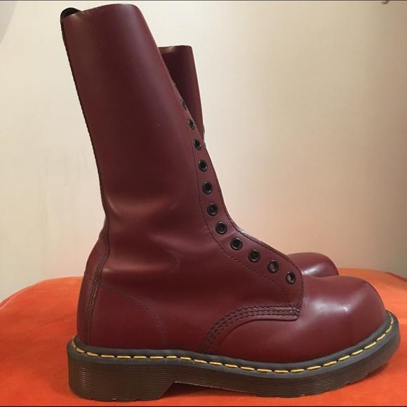 mäßiger Preis begrenzter Stil 2019 Ausverkauf 1940 Dr. Marten 14 eye Oxblood red steel toe boots