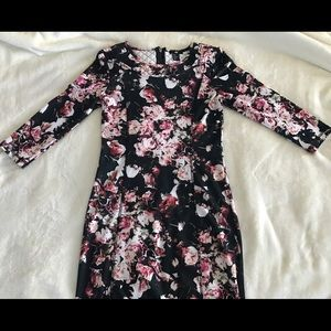 Mid-length floral fitted dress