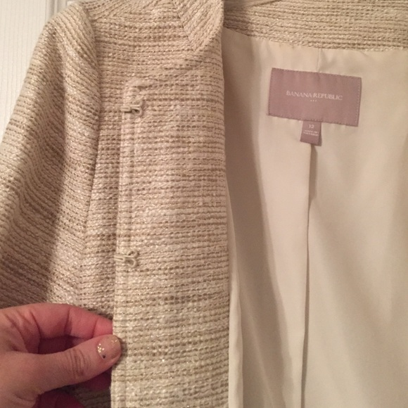 Banana Republic Jackets & Coats - Banana Republic -Cream, Sparkle Blazer