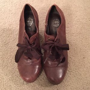Jeffrey Campbell Vintage ribbon booties w/defect
