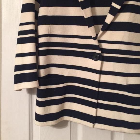 Ann Taylor Jackets & Coats - Navy & White Striped Blazer