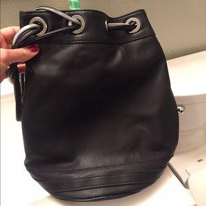 Zara Black bucket handbag purse NWOT