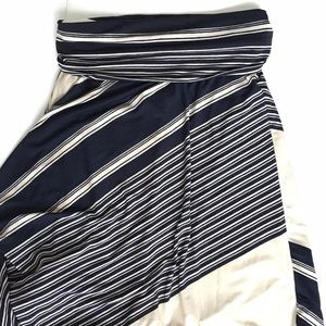 Ariella Dresses & Skirts - Ariella Navy and Ivory Striped Maxi Skirt