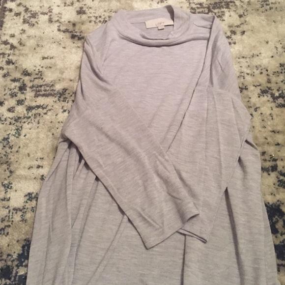 LOFT Sweaters - LOFT gray mock neck top