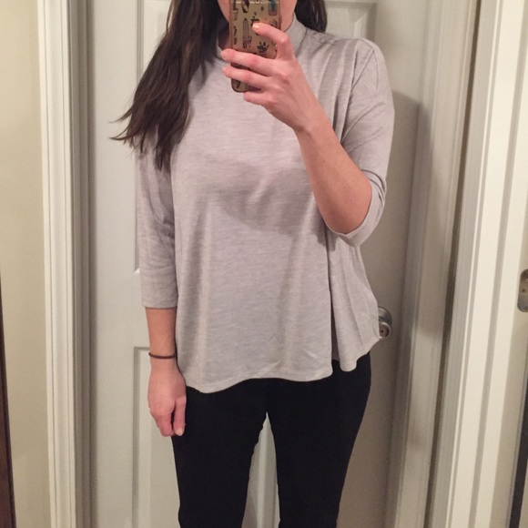 LOFT Sweaters - LOFT gray mock neck top