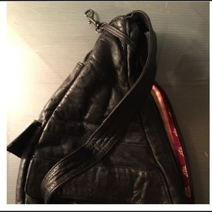 Vintage Leather sling pack from Turkey FINAL!