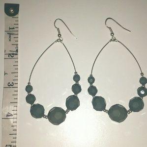 Jewelry - Olive Green Dangle Earrings