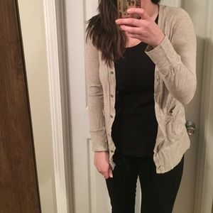 Merona Sweaters - Tan Boyfriend Cardigan
