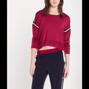 Sandro Sweaters - Sandro Loose Fit Long Sleeve Knot Top