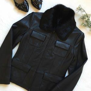 Alexander Julian Jackets & Blazers - {Alexander Julian} Black Leather Jacket