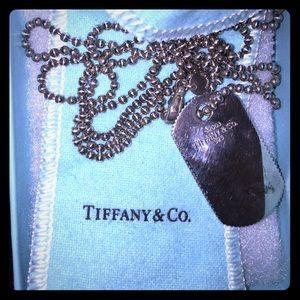 Tiffany&co. Dog tag necklace