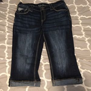 ARIYA stretch crop jeans sz 14