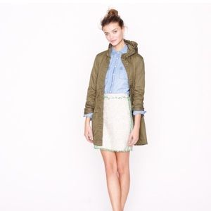 J. Crew Dresses & Skirts - Cream Glimmer Tweed Mini