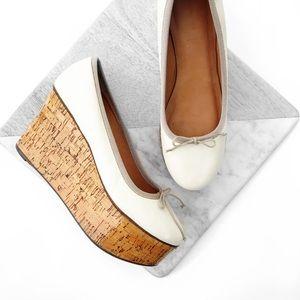 Anthropologie Shoes - Anthropologie leifsdottir leather ballerina wedge