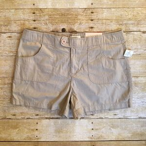 Tan Cato size 14 lower rise contemporary shorts