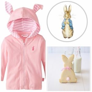 Nickelodeon Other - Girls Pink Peter Rabbit Hoodie With Ears