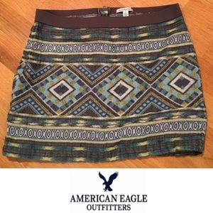 American Eagle Outfitters Dresses & Skirts - 🛑 American Eagle Aztec Skirt Size 10
