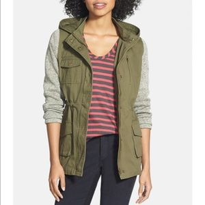 Nordstrom Jackets & Blazers - Olive + Oak Knit Sleeve Military Jacket