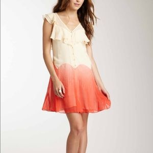 Charlotte Ronson Dresses & Skirts - Charlotte Ronson Mini Dress Silk Yellow Orange 2