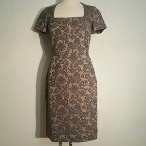 Banana Republic Dresses & Skirts - Banana Republic Tipo Grey Floral Jacquard Dress