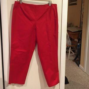 Ellen Tracy red pants , Size 8
