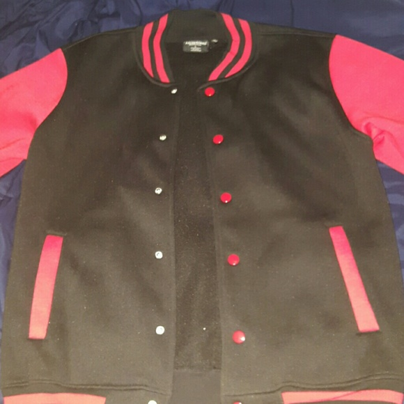 Jackets Coats Black And Red Varsity Jacket Poshmark