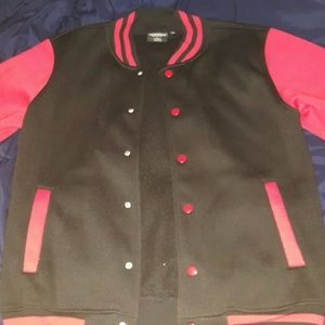 Other - Black and red Varsity jacket