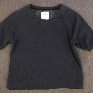 Alternative Apparel Tops - Alternative apparel heathered navy SS sweatshirt M