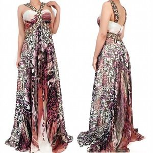 Jovani Dresses & Skirts - Jovani leopard print jewel prom dress