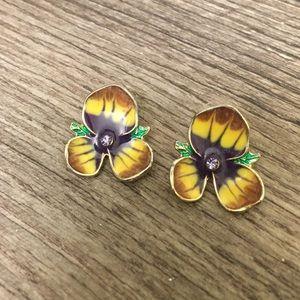 Jewelry   Pansy Post Earrings