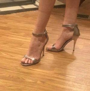 Platinum stiletto heels