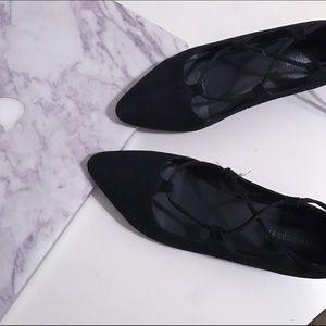 Jeffrey Campbell Shoes - Jeffrey Campbell Atsuko Suede Flats Black